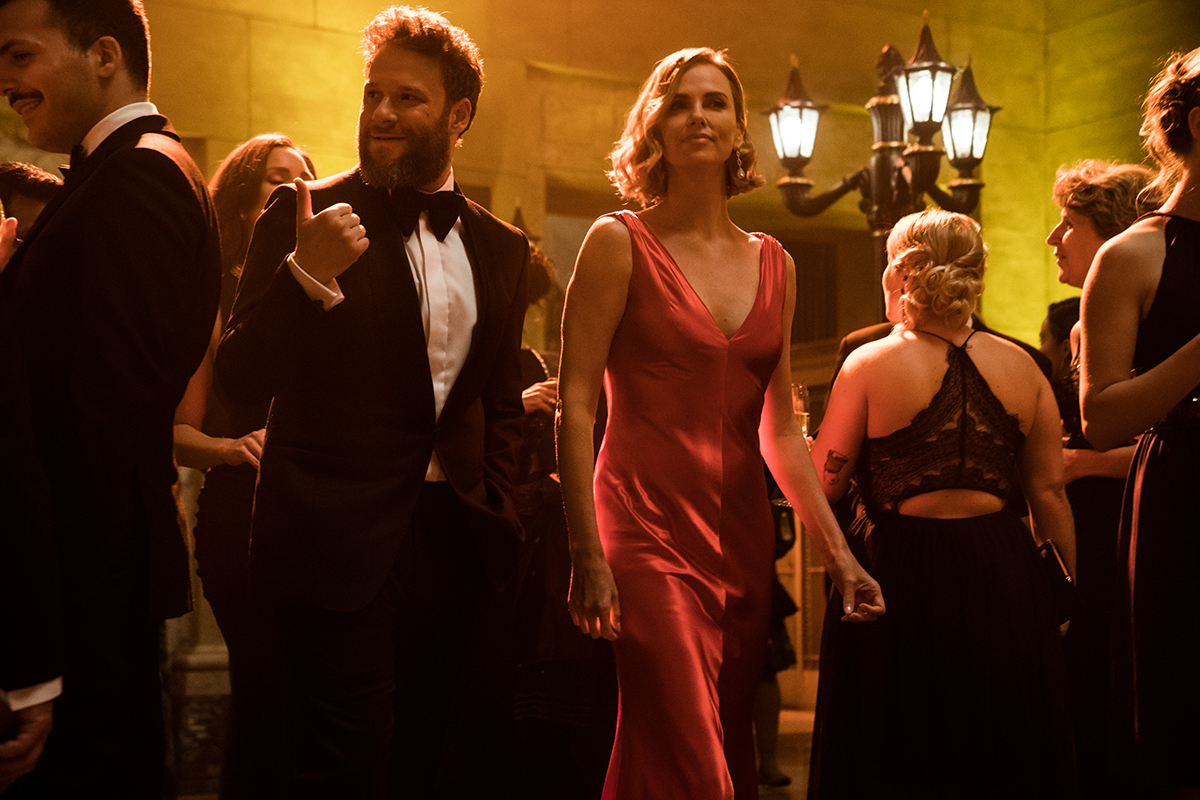 Fred Flarsky (Seth Rogen) and Charlotte Field (Charlize Theron) in FLARSKY.